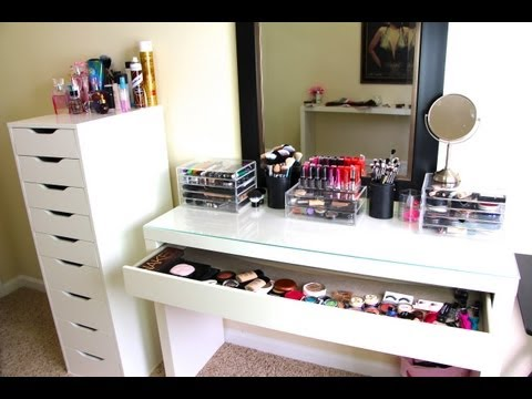 Makeup Collection & Storage! UPDATED- Casey Holmes