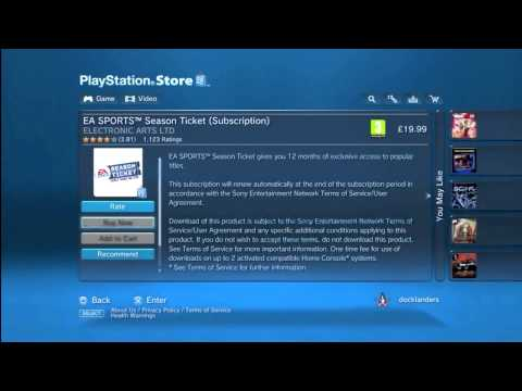 How To Download EA Sports Season Ticket On PS3 + INFO!