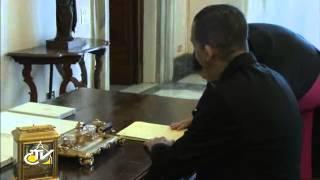Romereports Vaticano Videos del Papa Francisco Homilias - Del Papa Francisco el Presidente de Trinidad y Tobago