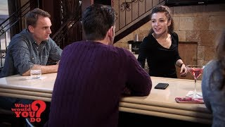 Jealous boyfriend harasses bartender girlfriend at work | What Would You Do? | WWYD