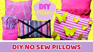 5 DIY Easy & No Sew Decorative Pillows Out of Old Clothes * How to