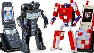 Transformers HandPhone Infobar Optimus Prime Speed dial 800 Phone Robot Toys
