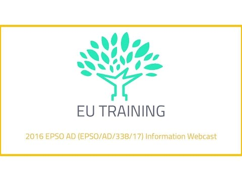 2017 EPSO AD Information Webcast
