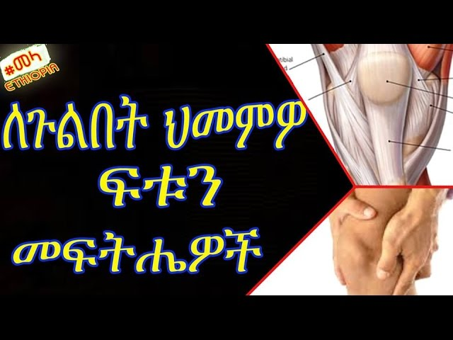 Home Remedies to Cure Knee Pain in Amharic