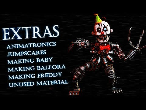 EXTRAS MENU AND SECRET ANIMATRONICS! || Babys Nightmare Circus (FREE ROAM Five Nights at Freddys)