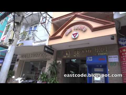 restaurants and hotels of Bui Vien street  Backpacker area  Ho Chi Minh city  Vietnam