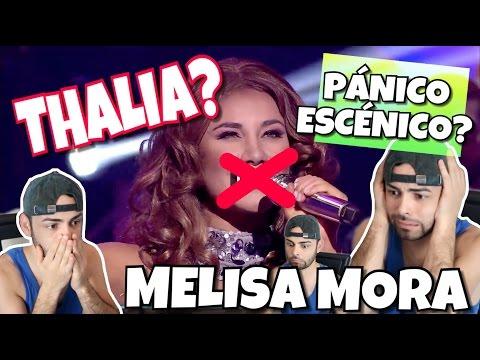 THALIA EN TU CARA ME SUENA MELISSA MORA | LA PEOR IMITACION DE THALIA VIDEO REACCION