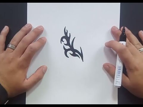 Como dibujar un tribal paso a paso 155 | How to draw one tribal 155