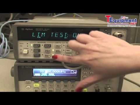 Frequency Limit Testing Using an Agilent 53131A, 53132A or 53181A Frequency Counter