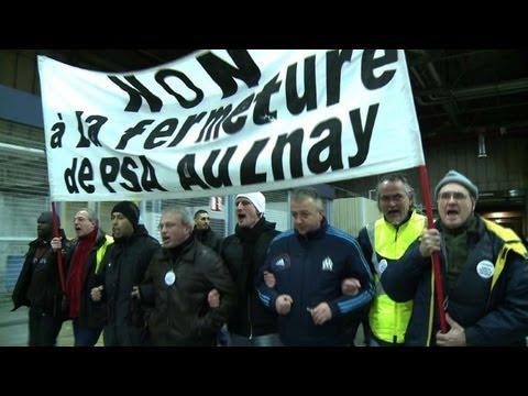 L'usine PSA d'Aulnay,  à nouveau bloquée par la grève