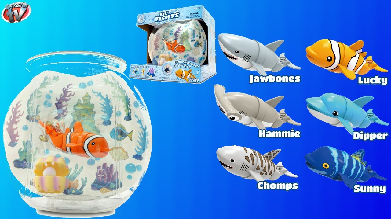 Lil 39 fishys motorised fish fish bowl pack toy review for Fish bowl toy
