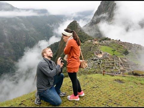 best proposal ever   machu picchu surprise   youtube