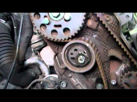 TIMING BELT WATER PUMP REMOVAL on A VW PASSAT 19 TDI 02 MODEL