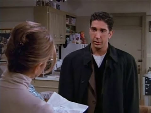 Ross y Rachel... una bonita pelea... xD