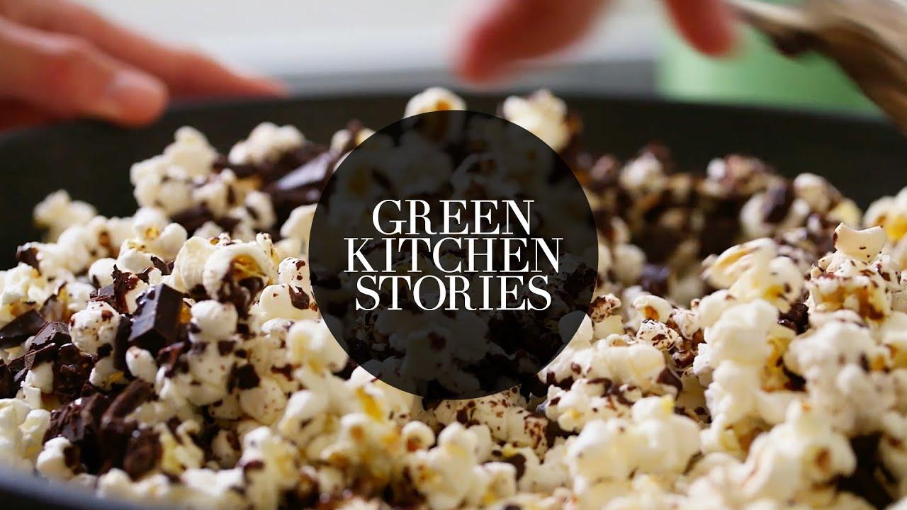 Sea Salt & Dark Chocolate Popcorn   Green Kitchen Stories - YouTube