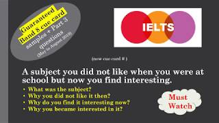 IELTS Cue card A subject you did not like when you were at school but now you find interesting