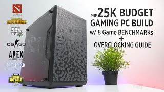 VLOG: 25K BUDGET Gaming PC Build Ryzen 2200G I MSI GTX 1050Ti w/ Benchmark + Overclocking Guide [Ph]