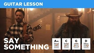 Download Lagu 🎸 Say Something (Timberlake & Stapleton) • Guitar lesson w/ chords & tabs Gratis STAFABAND