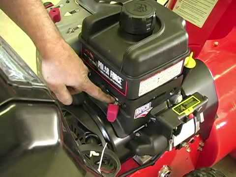 Check Fuel Valve If Snow Blower Is Not Starting Youtube