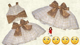 Convert Old Dupatta in to Designer Baby Skirt ( part -1 ) // by simple cutting