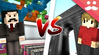 MINECRAFT REDSTONE VS BUILDING! (Mumbo VS Grian)