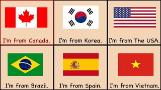 Countries Song | Where Are You From? Teach or Learn English Countries, Grammar, Flags, and Geography
