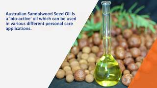 Sandalwood Seed Oil - Video Produced By Web Videos Australia
