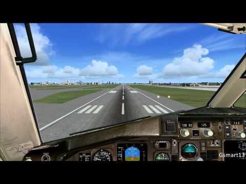 FSX 757 Landing Miami   Quality Wings 757   HD - 1080p