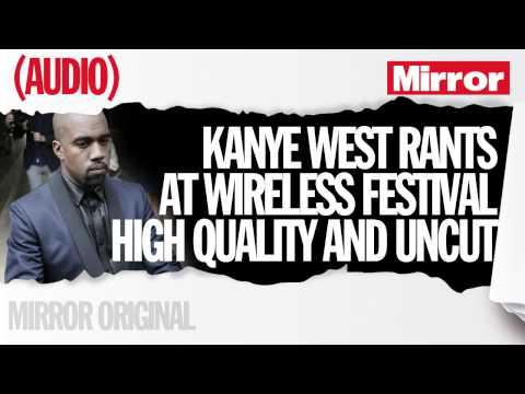 Kanye West rant at Wireless Festival in full and high quality