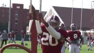 Alabama football practice - 9-20-17
