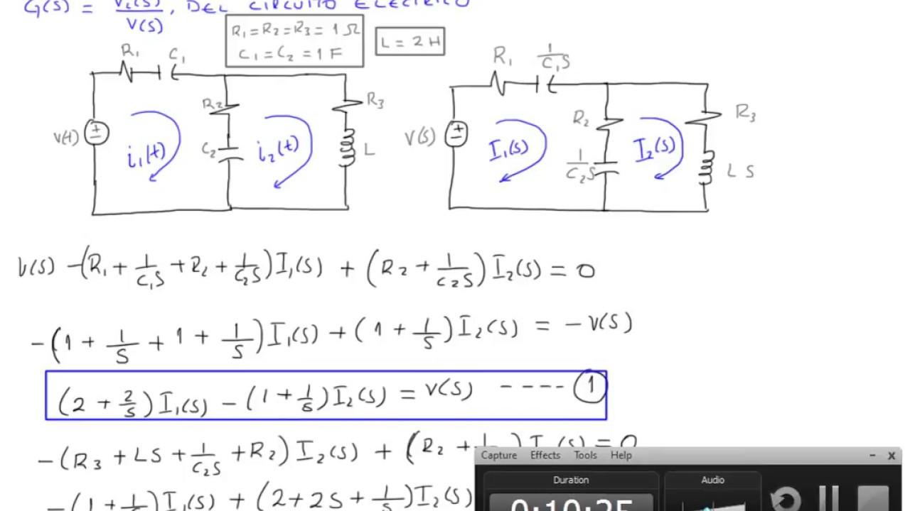 Circuito Rlc Ecuaciones Diferenciales : Funcion de transferencia circuito electrico dos