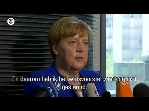 Hierom is Merkel tegen homohuwelijk