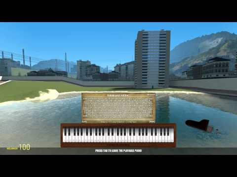 Garry's Mod - More playable piano