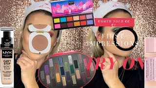 WORTH YOUR MONEY?? HUGE FIRST IMPRESSION MAKEUP TRY ON || GIO DREVELI ||