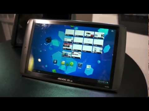 Archos 101 G9 Turbo running Ice Cream Sandwich at CES 2012!