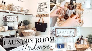 LAUNDRY ROOM MAKEOVER | FARMHOUSE STYLE | HUGE TRANSFORMATION