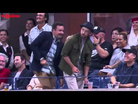 Jimmy Fallon & Justin Timberlake dance to 'Single Ladies' at US open