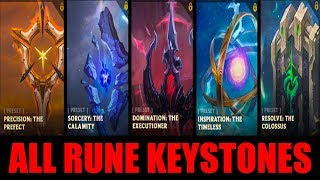 All New Rune Keystones Game Play   League of Legends