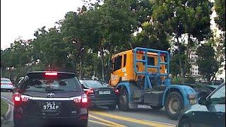 18jul2109    volvo s80 #SDJ202D & truck #XD5215J accident along jalan boon lay