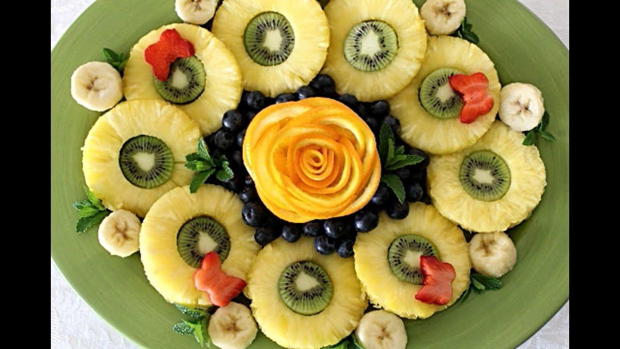 Украшения из фруктов и овощей