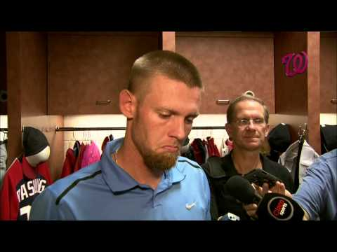 "Stephen Strasburg says he's ""embarrassed"" by his start"