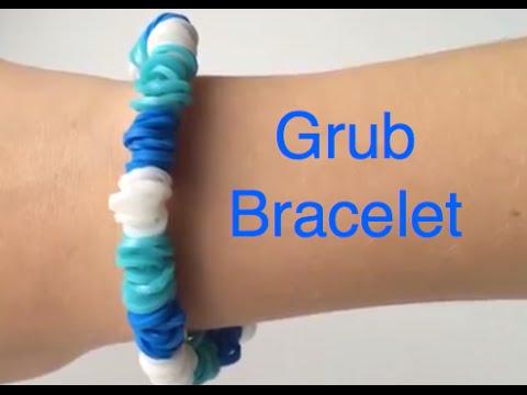 how to make a rainbow loom grub bracelet easy youtube