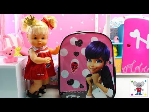 La Bebé NENUCO Princesa CUCA Prepara la mochila de Ladybug para ir de Pijamada