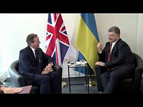 Petro Poroshenko had a meeting with David Cameron in New York