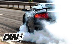 Massive Burnout in Lamborghini Murciélago LP640