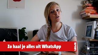 Handige tips 'n trics om alles uit je WhatsApp te halen  - EDITIE NL