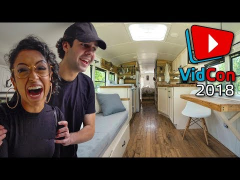 DAVID & LIZA LOVE MY BUS TINY HOME!
