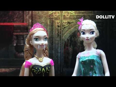 뱀파이어 엘사 안나 켄의 백신주사를 맞다   겨울왕국 인형극 애니메이션 돌아이티비