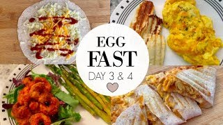 WHAT I EAT IN A DAY ON KETO! | Egg FAST Day 3&4♥️ Transitioning back into regular food! ????✨
