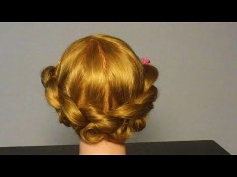 Прическа в греческом стиле. Greek Goddess Updo Hair Tutor